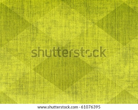 80s style vibrant psychedelic diamond geometric abstract rough scratched neon yellow green colors damask scrapbook paper wall grunge grungy emo concrete texture close up. More decors in my port.