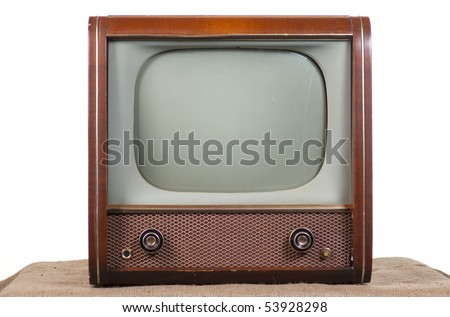 1960's television on a white background