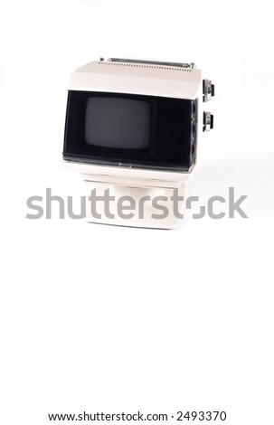 70's tv set, on white, off