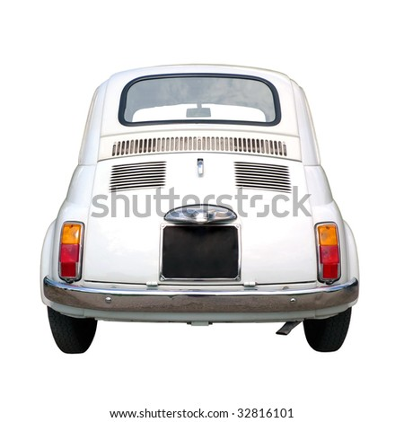 60s vintage italian car isolated on white background
