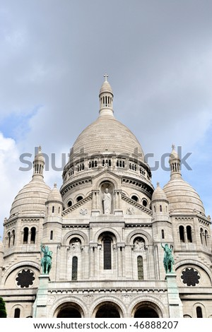 Sacre-Coeur, Montmartre, Paris - stock photo