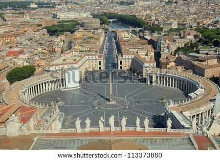 Saint Peter's Square in Vatican. Rome, Italy.