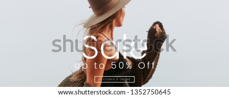 50% sale offer template vector #1352750645