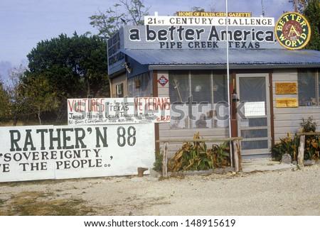 SAN ANTONIO, TX - CIRCA 1980\'s: Political posters and billboards, San Antonio, TX