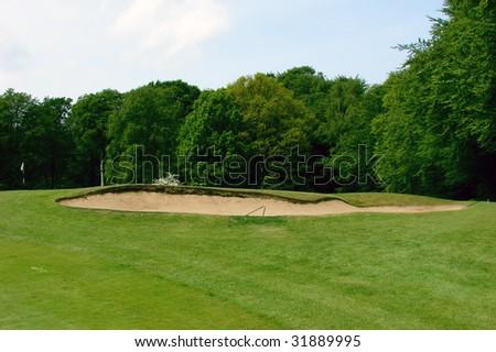 sand trap on a golf caurse