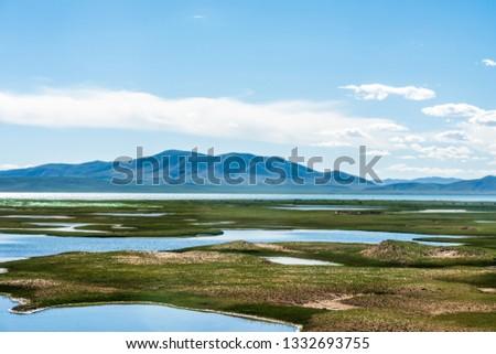 Sanjiangyuan Nature Reserve, the highest elevation natural wetland, Tibet, China #1332693755