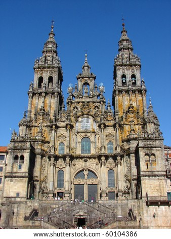 Santiago de Compostela Cathedral , Galicia, Spain