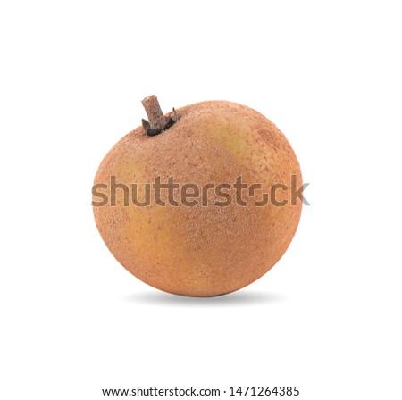 sapodilla fruit isolated on white background Foto stock ©