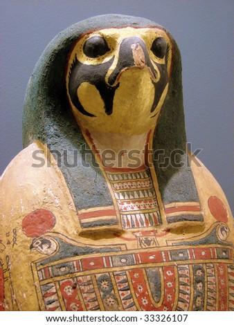 sarcophagus for a mummy of the Egyptian Pharaoh