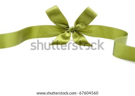 satin ribbon on white