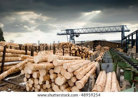 Sawmill (lumber mill) Foto stock ©
