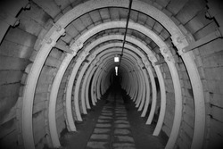 Scary look into the tunnel inside a military bunker complex in Czech republic