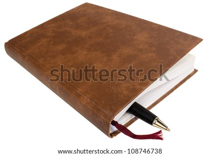 schedule closed with pen isolated