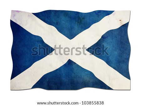 Scottish Flag made of Paper