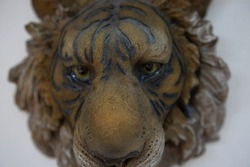 Sculpture face of a tiger