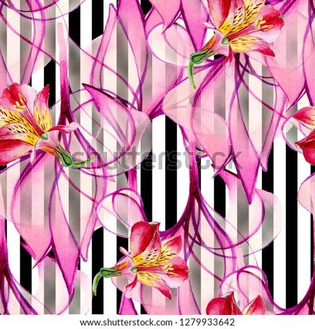 Seamless background, drawing watercolor. Flowers abstraction. Basis for design