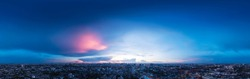 360 Seamless Sunset Sky Panorama in Spherical (Equirectangular) format with complete zenith -Bangkok Thailand