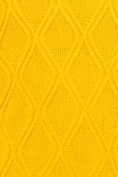 Seamless yellow Knitwear Fabric Texture with Pigtails.