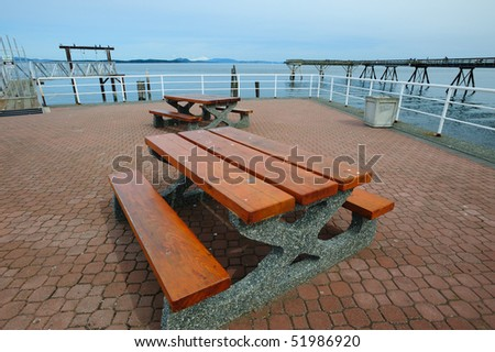 seaside picnic site in sidney, vancouver island ,british columbia, canada