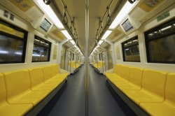 Seats  in electric trains.