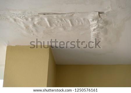 Seep water ceiling house Stok fotoğraf ©