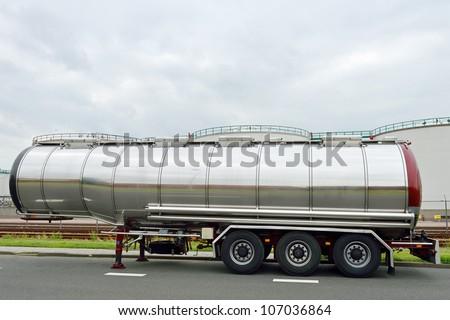 semi-truck. fuel tanker.