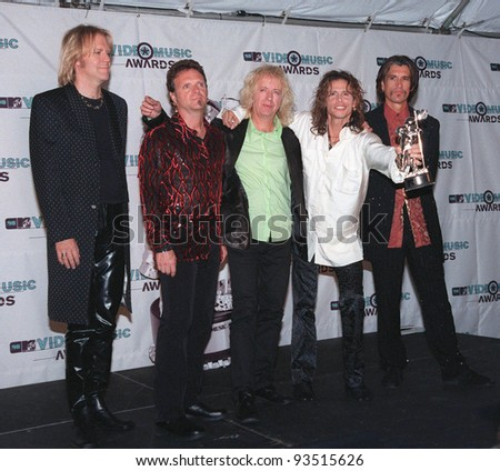 09SEP98: Rock group AEROSMITH at the MTV Video Music Awards in Los Angeles.