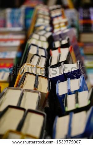 September 21, 2019 Santa Cruz Califorina USA. Books for sale in a book shop.