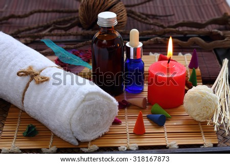 Set massage spa for body health care.