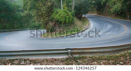 sharp curve road