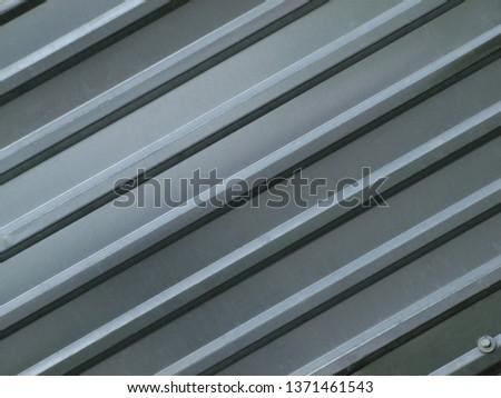 sheet of corrugated sheet metal