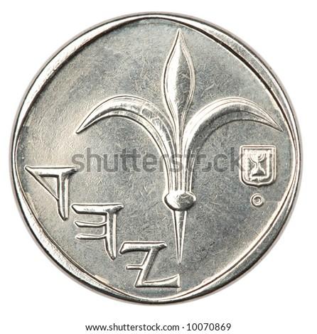 1 Shekel coin - rear