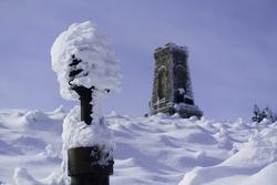 Shipka Peak on a sunny winter day