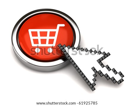 Shopping button and arrow cursor