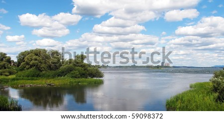 shoreline of St. Lawrence River surrounding Montreal Canada