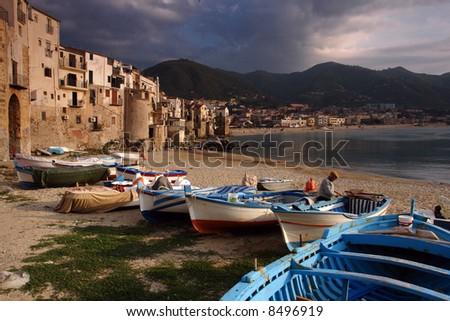 Sicily, Cefalu harbor