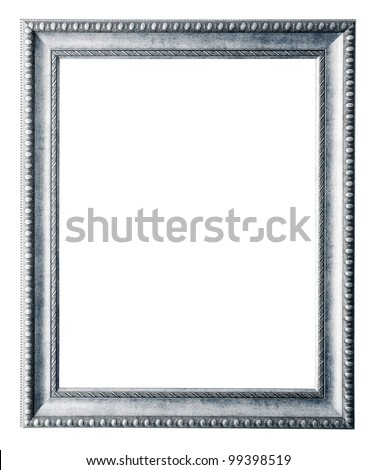 silver frame. Isolated over white background with clipping path
