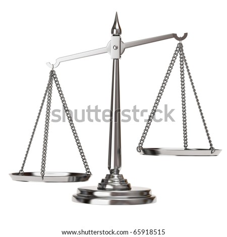 Silver Scales of justice
