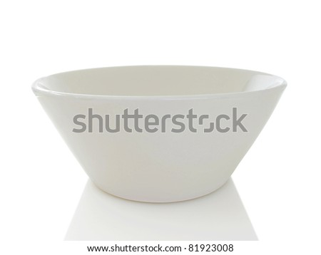 Simple white modern bowl isolated on a white background