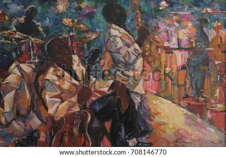 singer jazz club saxophonist jazz band orchestra musical