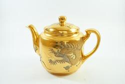 Single Luxury golden dragon Chinese  teapot