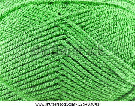 skein of threads yarn, close up  texture background