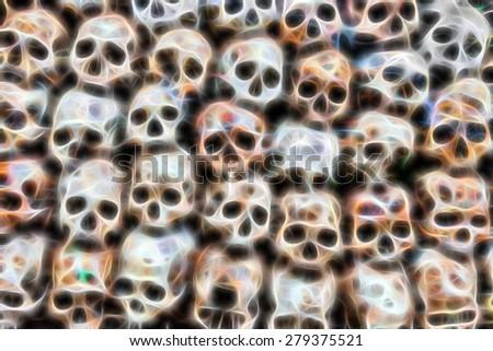 Stock Photo  Skull bone Fractal Images