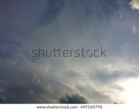 sky and gray fluffy clouds background,out of focus #449160796