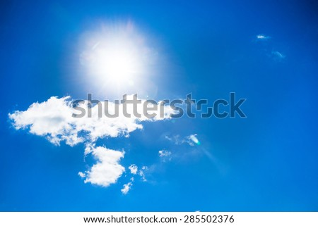 sky background with tiny clouds - Shutterstock ID 285502376