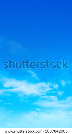 sky blue background.