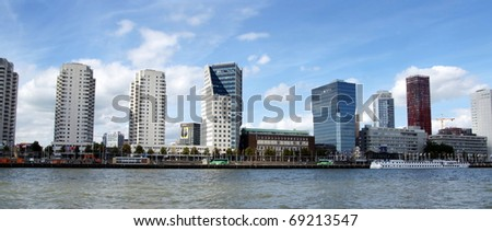 skyscrapers  by the riverside