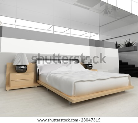 sleeping room 3d render