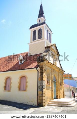 Small church on a Caribbean island. #1357609601