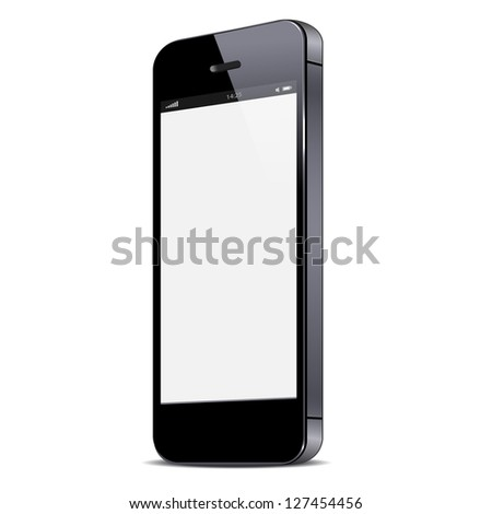 Smartphone isolated on white background. Raster version